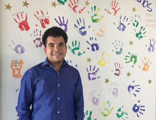 Estudiante en práctica de la Universidad San Sebastián realiza su práctica en Fundación Creo en Tí Nicolás Fossatti, Brayan Montenegro